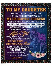 """Little Girl Yesterday Friend Today Mom To Daughter Fleece Blanket - 50"""" x 60"""" front"""