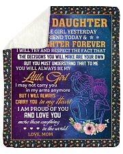 """Little Girl Yesterday Friend Today Mom To Daughter Sherpa Fleece Blanket - 50"""" x 60"""" thumbnail"""