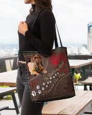 Dogue-De-Bordeaux-dog-the-road-to-my-heart- All-over Tote aos-all-over-tote-lifestyle-front-04