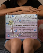 Pink Never Forget That I Love U Mom To Daughter 14x11 Gallery Wrapped Canvas Prints aos-canvas-pgw-14x11-lifestyle-front-22