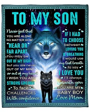"""Never Feel That U Are Alone Wolf Mom To Son Fleece Blanket - 50"""" x 60"""" front"""