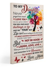 Never Forget How Much I Love U Mom To Daughter 20x30 Gallery Wrapped Canvas Prints front