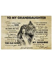 You Are My Sunshine Grandma To Granddaughter 17x11 Poster thumbnail