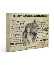 You Are My Sunshine Grandma To Granddaughter 14x11 Gallery Wrapped Canvas Prints front