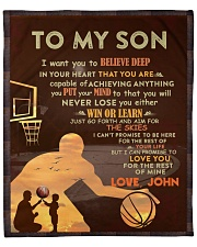 """Personalized - Want U To Believe Basketball To Son Fleece Blanket - 50"""" x 60"""" front"""