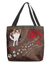 Papillon-dog-the-road-to-my-heart All-over Tote back