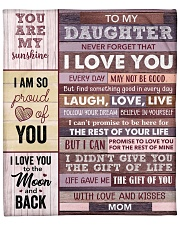 """Never Forget That I Love You Mom To Daughter Fleece Blanket - 50"""" x 60"""" front"""