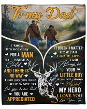 """It's Not Easy For A Man To Raise A Child - To Dad Fleece Blanket - 50"""" x 60"""" front"""