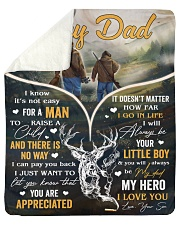 """It's Not Easy For A Man To Raise A Child - To Dad Sherpa Fleece Blanket - 50"""" x 60"""" thumbnail"""