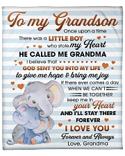"""To My Grandson I'll Stay There Forever I Love You Fleece Blanket - 50"""" x 60"""" front"""