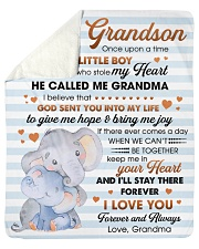 To My Grandson I'll Stay There Forever I Love You Sherpa Fleece Blanket tile