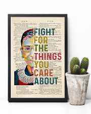 RBG Fight For The Things You Care About 11x17 Poster lifestyle-poster-8