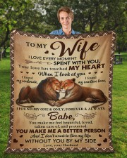 "I Love Every Moment Spent With You Husband To Wife Fleece Blanket - 50"" x 60"" aos-coral-fleece-blanket-50x60-lifestyle-front-01a"