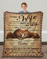 "I Love Every Moment Spent With You Husband To Wife Fleece Blanket - 50"" x 60"" aos-coral-fleece-blanket-50x60-lifestyle-front-01c"