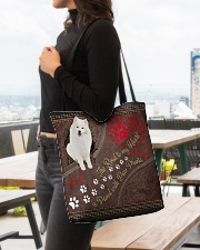 American-Eskimo-dog-the-road-to-my-heart All-over Tote aos-all-over-tote-lifestyle-front-04