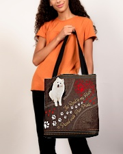 American-Eskimo-dog-the-road-to-my-heart All-over Tote aos-all-over-tote-lifestyle-front-06
