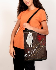 American-Eskimo-dog-the-road-to-my-heart All-over Tote aos-all-over-tote-lifestyle-front-07