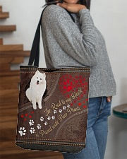 American-Eskimo-dog-the-road-to-my-heart All-over Tote aos-all-over-tote-lifestyle-front-09
