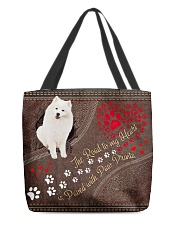 American-Eskimo-dog-the-road-to-my-heart All-over Tote front