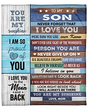 """Never Forget I Love You More Than U Know Mom ToSon Fleece Blanket - 50"""" x 60"""" front"""
