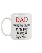 Personalized Name funny Dog Dad Cleaning poop Mug back