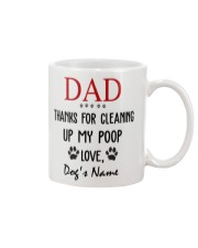 Personalized Name funny Dog Dad Cleaning poop Mug front