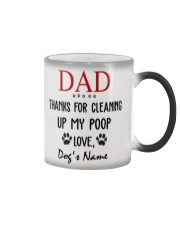 Personalized Name funny Dog Dad Cleaning poop Color Changing Mug thumbnail