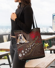 American-Bulldog-the-road-to-my-heart All-over Tote aos-all-over-tote-lifestyle-front-04