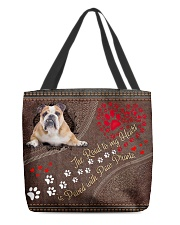 American-Bulldog-the-road-to-my-heart All-over Tote back
