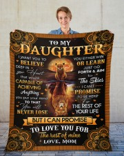 "I Want U To Believe Deep In Heart Mom To Daughter Fleece Blanket - 50"" x 60"" aos-coral-fleece-blanket-50x60-lifestyle-front-01"