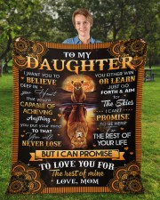 """I Want U To Believe Deep In Heart Mom To Daughter Fleece Blanket - 50"""" x 60"""" aos-coral-fleece-blanket-50x60-lifestyle-front-01a"""
