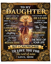 """I Want U To Believe Deep In Heart Mom To Daughter Fleece Blanket - 50"""" x 60"""" front"""