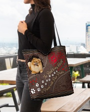 Pomeranian-dog-the-road-to-my-heart All-over Tote aos-all-over-tote-lifestyle-front-04