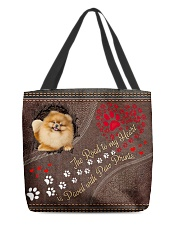 Pomeranian-dog-the-road-to-my-heart All-over Tote back