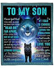 "Never Feel That U Are Alone Wolf Dad To Son Fleece Blanket - 50"" x 60"" front"