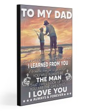 So Much Of Me Is Made Fishing Son To Dad  20x30 Gallery Wrapped Canvas Prints front