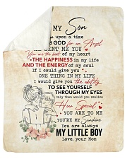Once Upon A Time When I Asked God-Mom To Son Sherpa Fleece Blanket tile