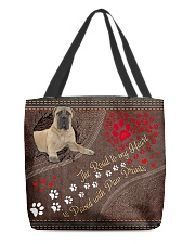 Bullmastiff-dog-the-road-to-my-heart All-over Tote front