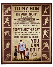 """Never Quit If U Stumble Get Back Up Dad To Son Fleece Blanket - 50"""" x 60"""" front"""