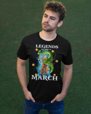 Dragon goku Legends are born in March Classic T-Shirt apparel-classic-tshirt-lifestyle-front-43