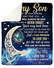 Half Moon Promise To Love U 4The Rest Mom To Son  Sherpa Fleece Blanket tile