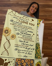 """To My Daughter Never Forget That I Love You Sherpa Fleece Blanket - 50"""" x 60"""" aos-sherpa-fleece-blanket-50x60-lifestyle-front-09b"""