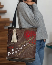 Afghan-Hound-dog-the-road-to-my-heart All-over Tote aos-all-over-tote-lifestyle-front-09