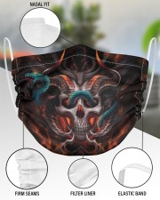 Skull 3d 2 Layer Face Mask - Single aos-face-mask-2-layers-lifestyle-front-51
