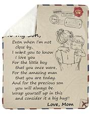 I Love U 4The Amazing Man U Are Today Mom To Son Sherpa Fleece Blanket tile