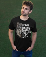 Wolf Husband Daddy Protector Hero - For Husband Classic T-Shirt apparel-classic-tshirt-lifestyle-front-43