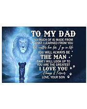 Much Of Is Made From What I Learned From U To Dad Horizontal Poster tile