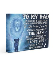 Much Of Is Made From What I Learned From U To Dad 14x11 Gallery Wrapped Canvas Prints front