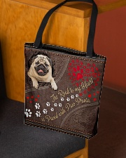 Pug-dog-the-road-to-my-heart All-over Tote aos-all-over-tote-lifestyle-front-02