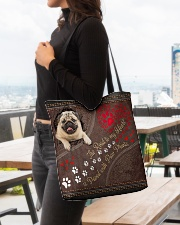 Pug-dog-the-road-to-my-heart All-over Tote aos-all-over-tote-lifestyle-front-04